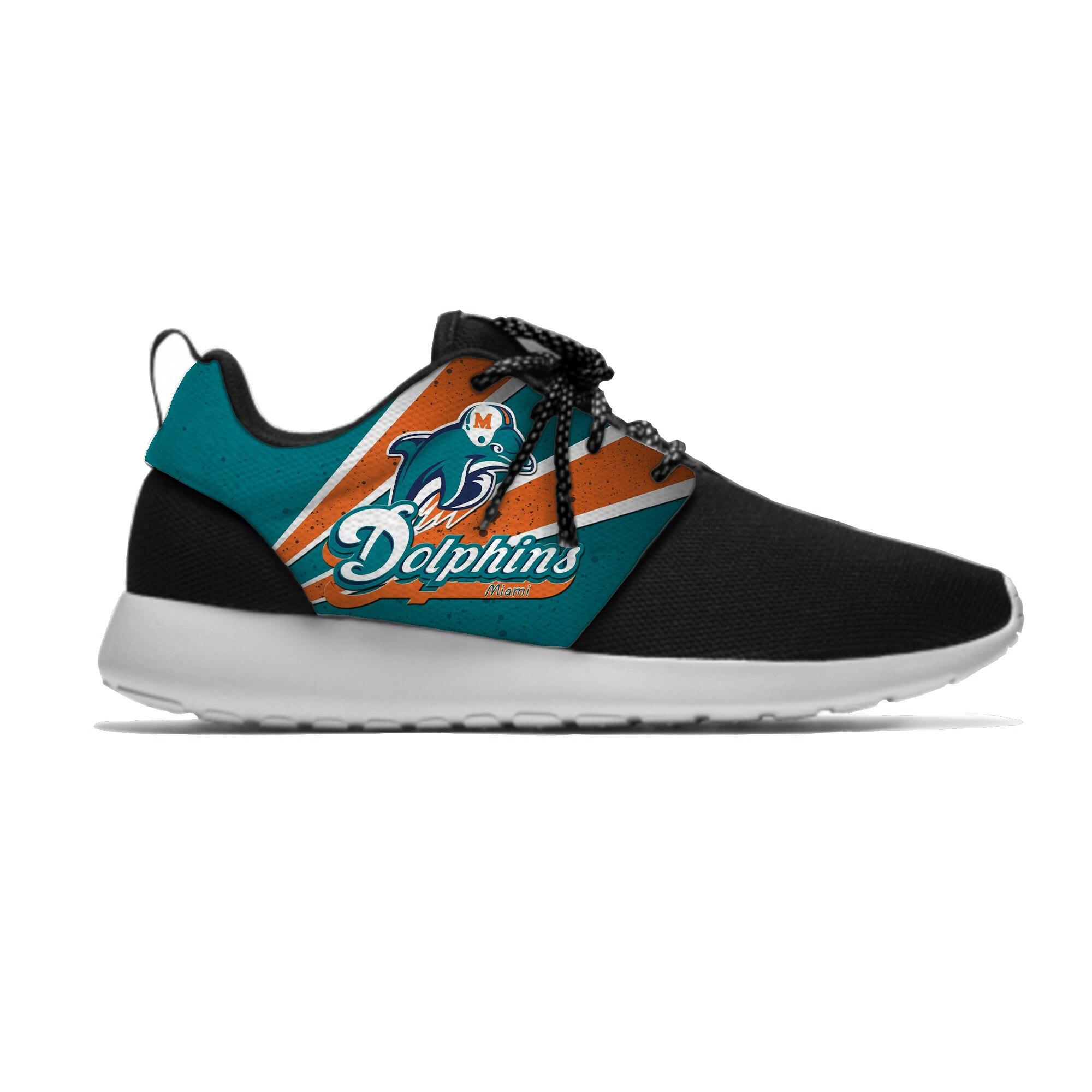 Football Team Dolphins Yeezy Sneaker Running Shoe for Women and Men