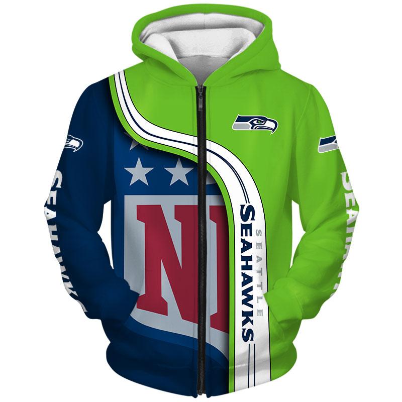 Seattle Seahawks Zip-Hoodie