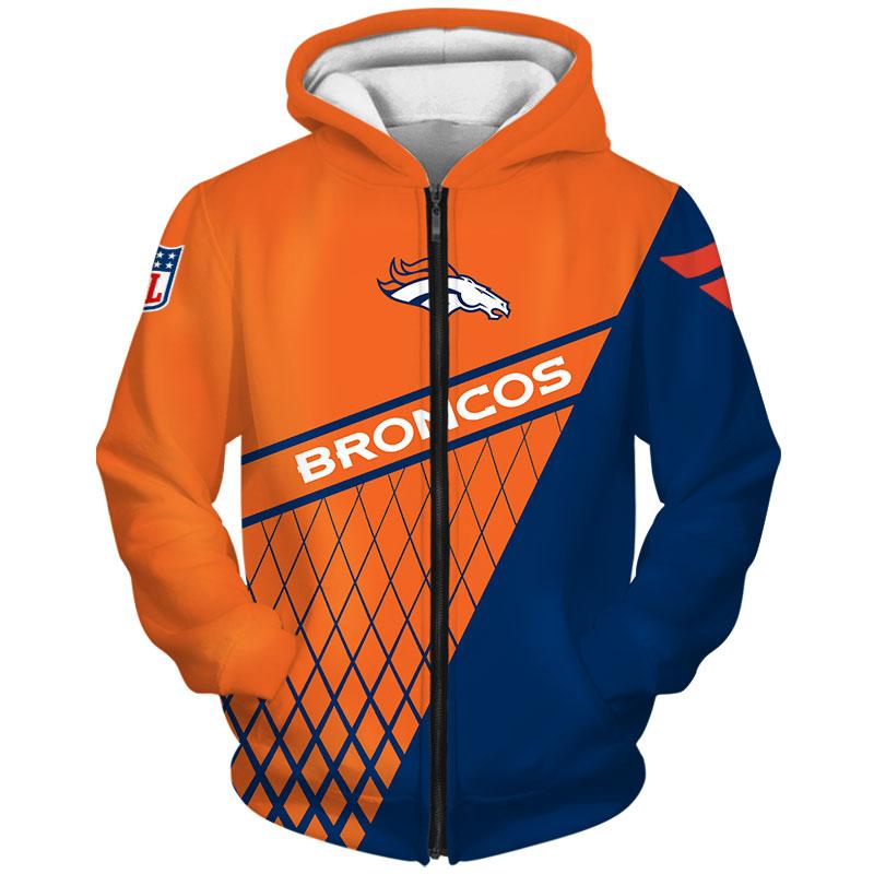 Denver Broncos Zip Hoodie