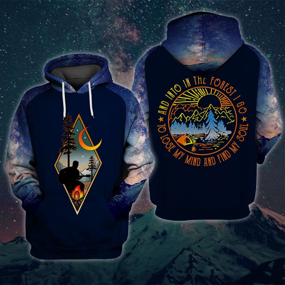 Man in Forest Camping hoodie