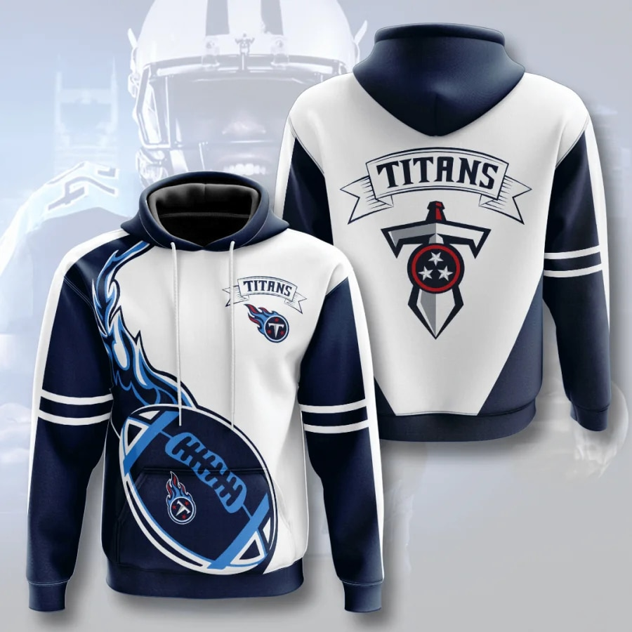 Tennessee Titans Hoodie Flame balls