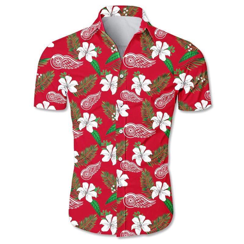 Detroit Red Wings Hawaiian Shirt