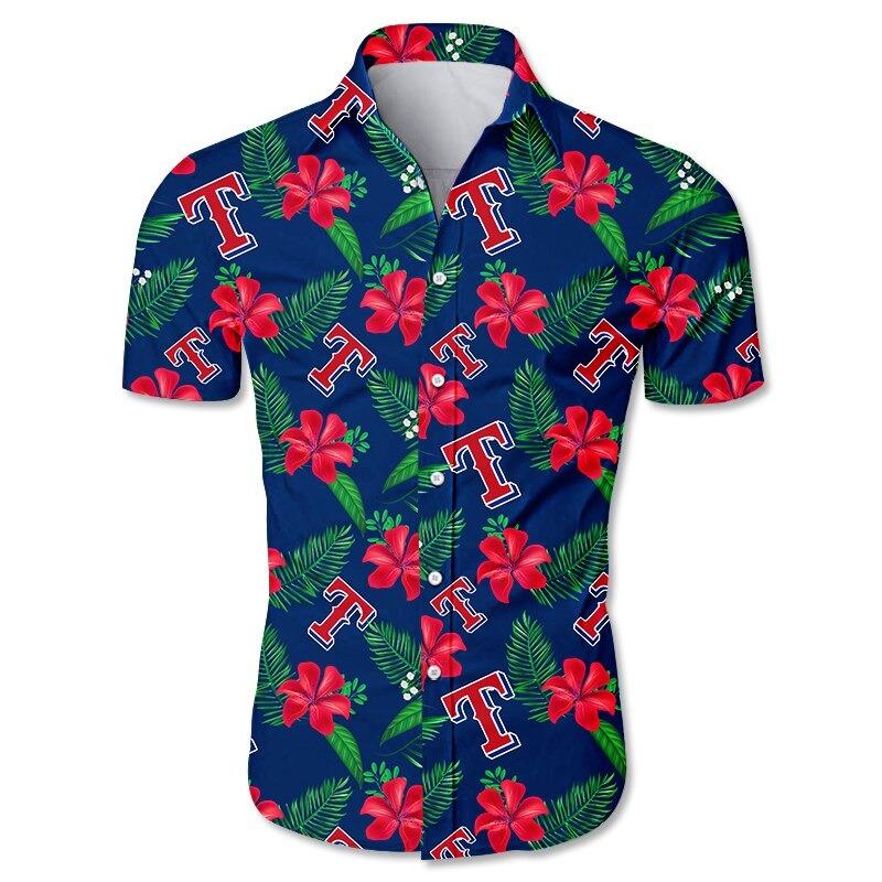 Texas Rangers Hawaiian Shirt