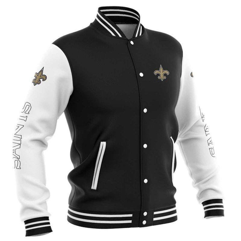 New Orleans Saints Baseball Jacket