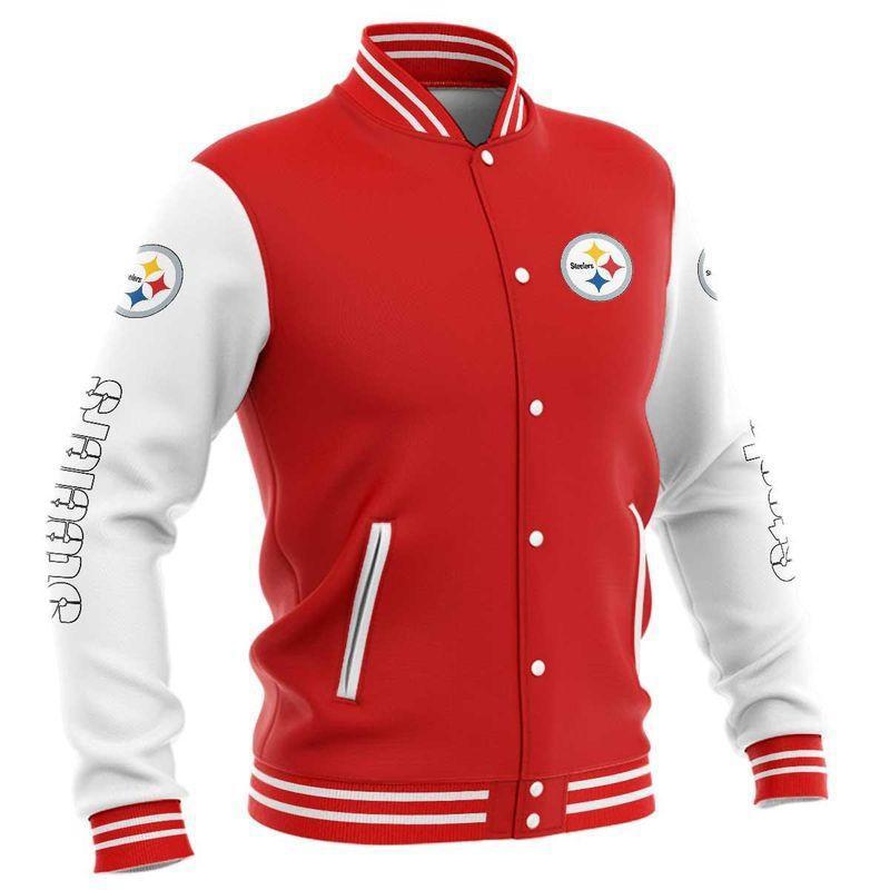 Pittsburgh Steelers Baseball Jacket