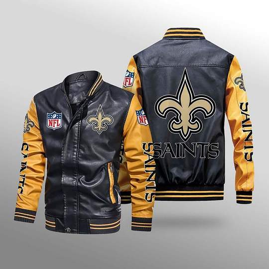 New Orleans Saints Leather Jacket