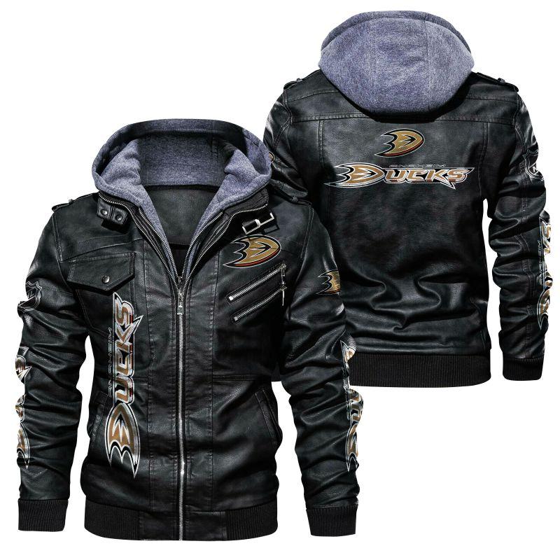 Anaheim Ducks leather Jacket