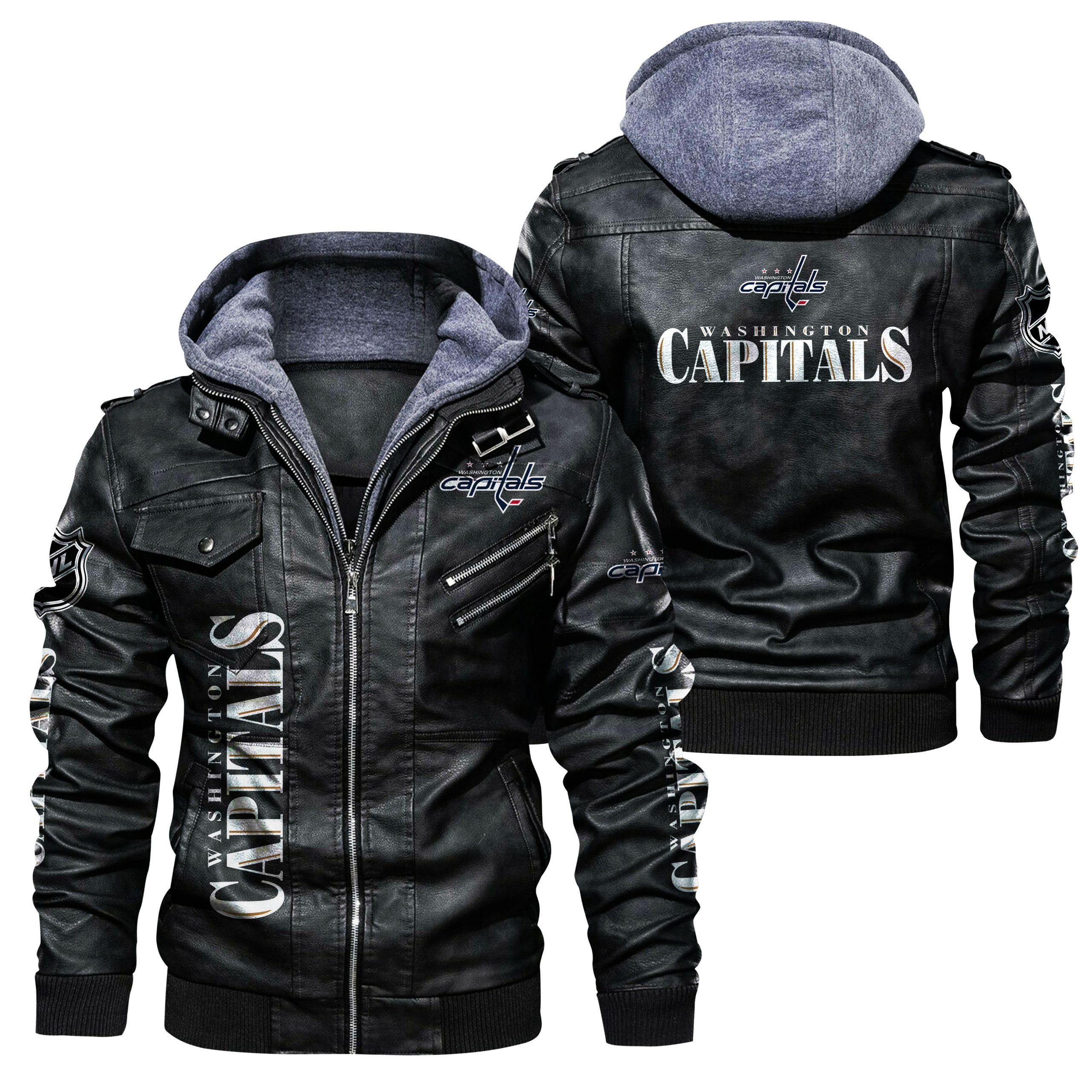 Washington Capitals Leather Jacket