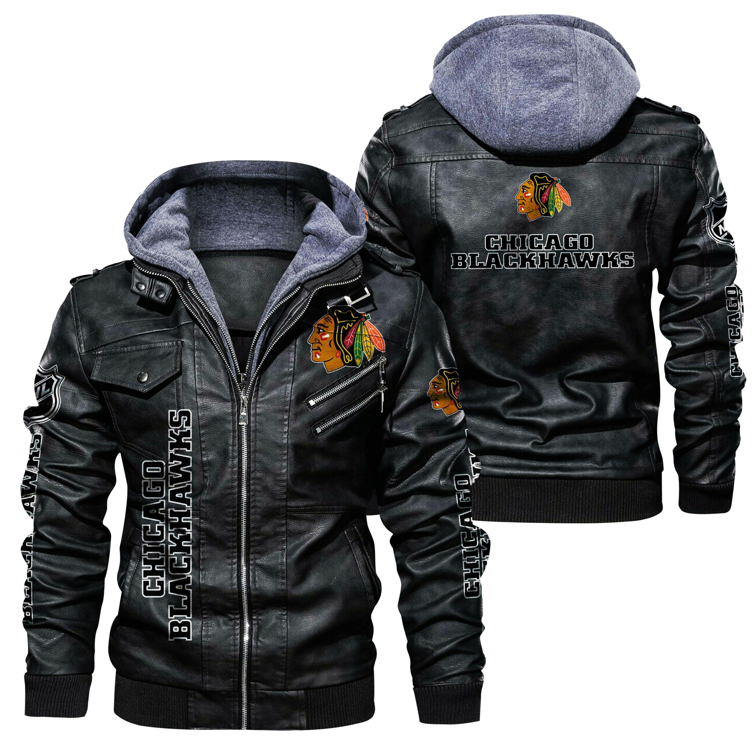 Chicago Blackhawks Leather Jacket