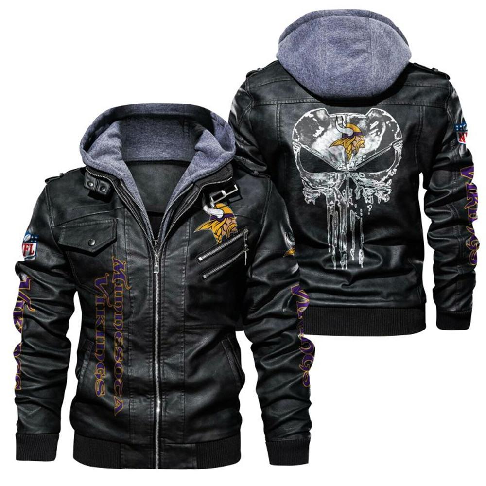 Minnesota Vikings Leather Jacket