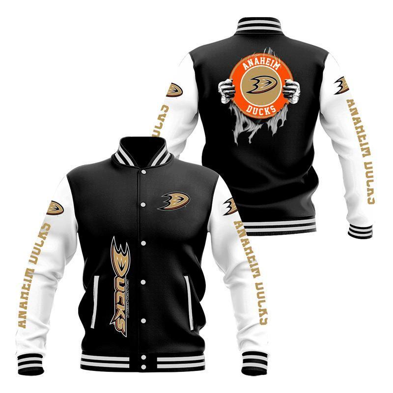 Anaheim Ducks Baseball Jacket