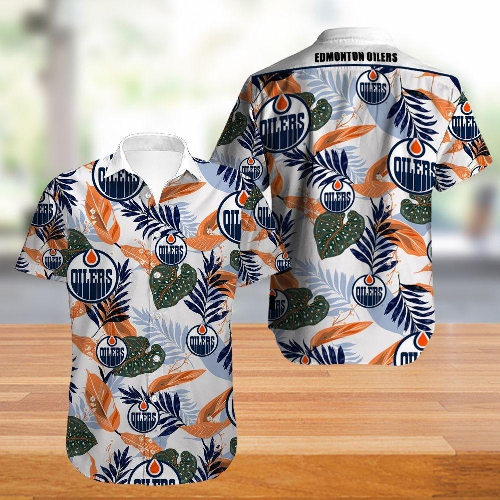 Edmonton Oilers Hawaiian Shirt